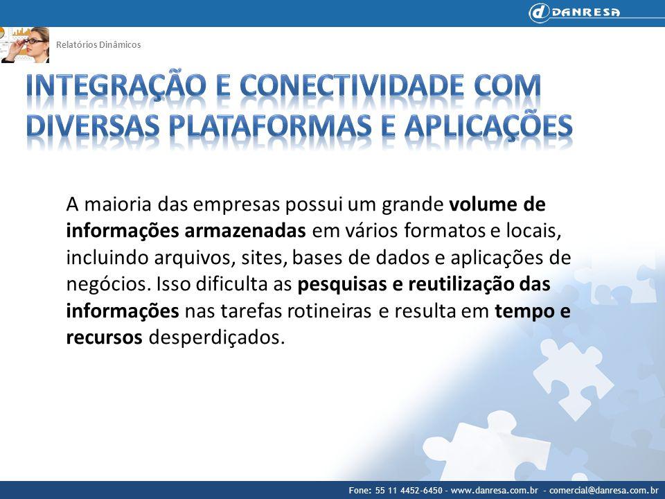 Fone: 55 11 4452-6450 - www.danresa.com.br - comercial@danresa.com.br Relatórios Dinâmicos A maioria das empresas possui um grande volume de informaçõ