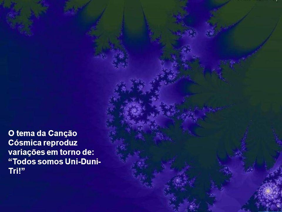 Mesmo no tumulto triádico dos seres humanos e dos astros, pode-se escutar essa canção cósmica de harmonia, ruído e silêncio.