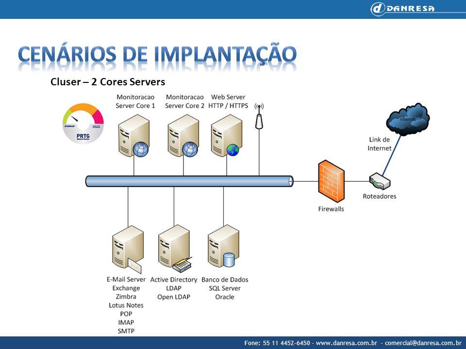 Fone: 55 11 4452-6450 - www.danresa.com.br - comercial@danresa.com.br Cluser – 2 Cores Servers