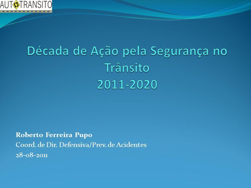 Roberto Ferreira Pupo Coord. de Dir. Defensiva/Prev. de Acidentes 28-08-2011