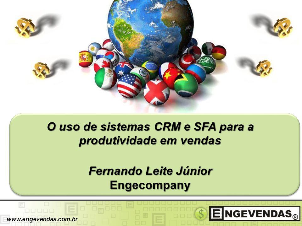 ENGEVENDAS www.engevendas.com.br CRM SFA Metodologia de Vendas Engevendas® O Engevendas® é um software especialista em vendas e negociações.