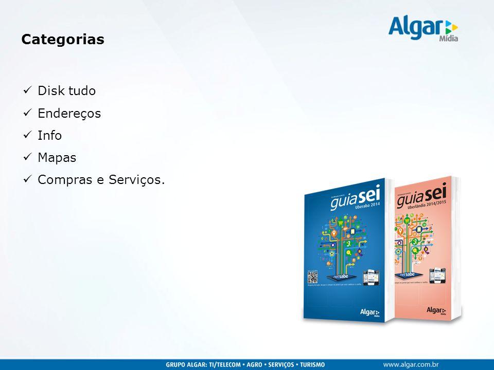 Disk tudo Endereços Info Mapas Compras e Serviços. Categorias