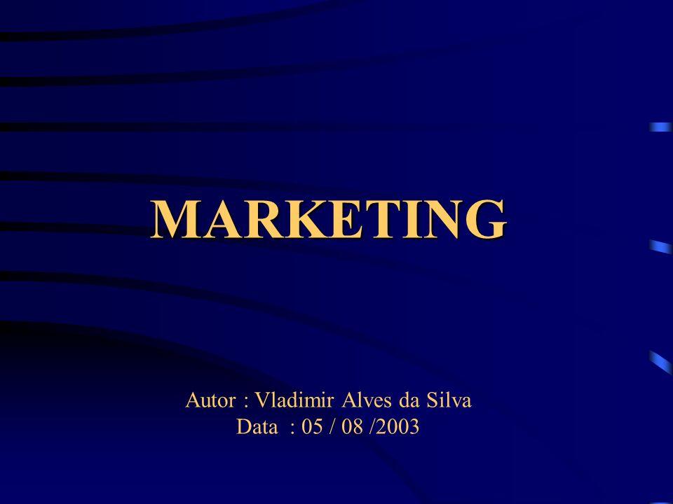 MARKETING Autor : Vladimir Alves da Silva Data : 05 / 08 /2003