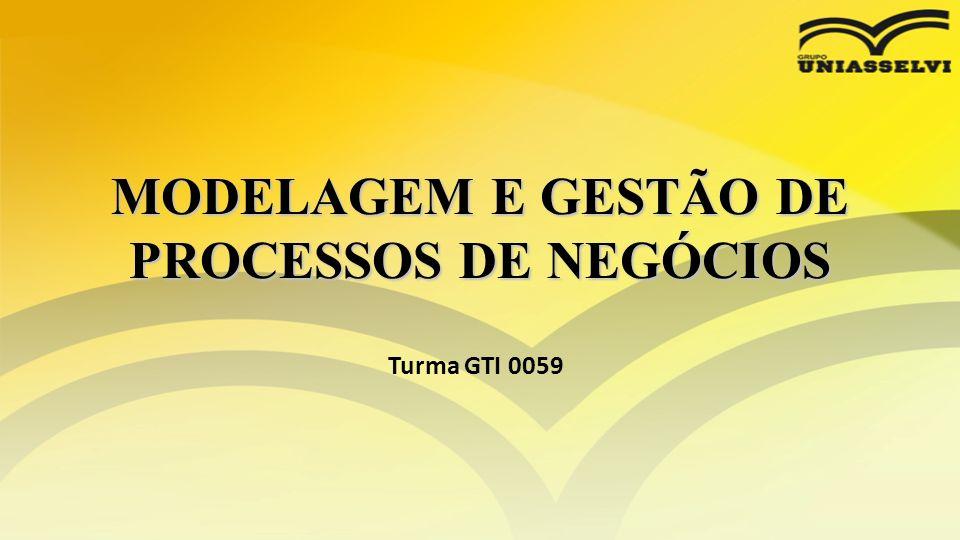 MODELAGEM E GESTÃO DE PROCESSOS DE NEGÓCIOS Turma GTI 0059