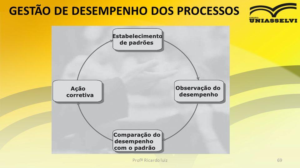 GESTÃO DE DESEMPENHO DOS PROCESSOS Profº Ricardo luiz69