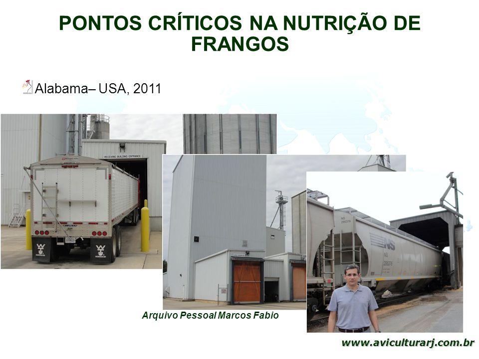 10 www.aviculturarj.com.br PONTOS CRÍTICOS NA NUTRIÇÃO DE FRANGOS Arquivo Pessoal Marcos Fabio Alabama– USA, 2011