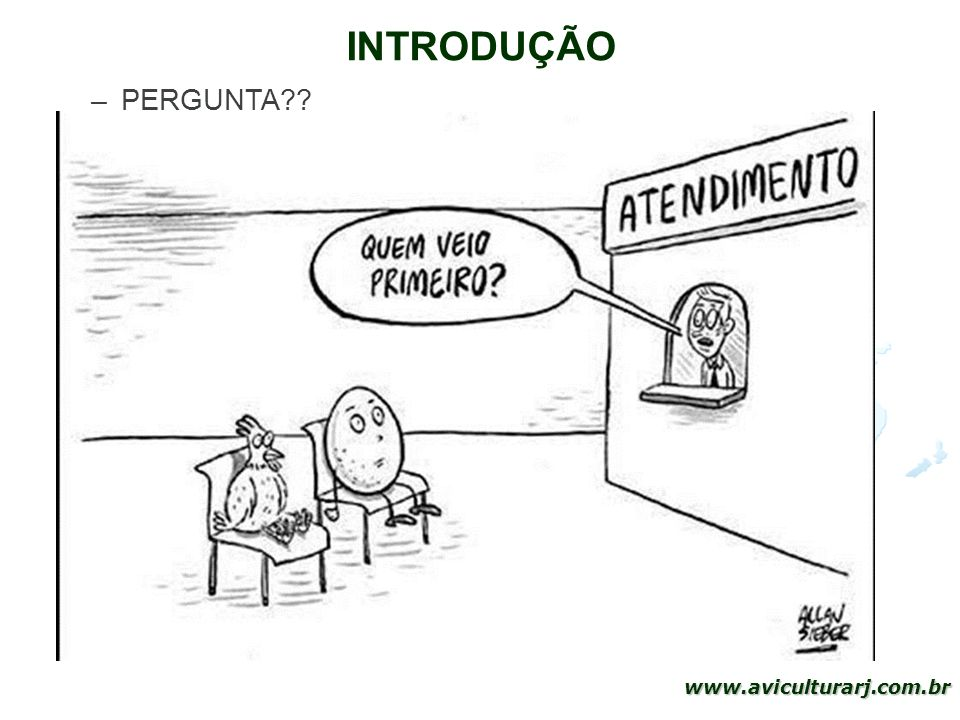 3 www.aviculturarj.com.br INTRODUÇÃO –PERGUNTA??