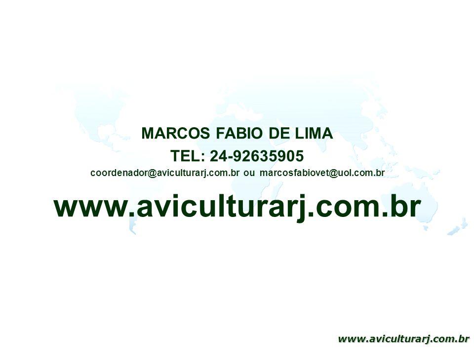 51 www.aviculturarj.com.br MARCOS FABIO DE LIMA TEL: 24-92635905 coordenador@aviculturarj.com.br ou marcosfabiovet@uol.com.br www.aviculturarj.com.br