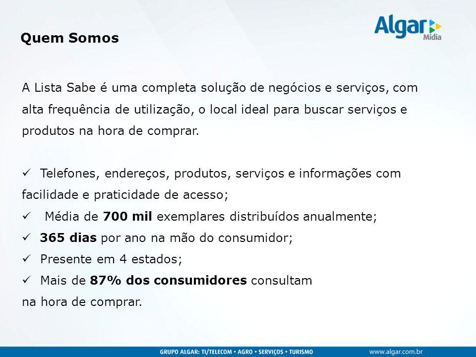 Assinantes comerciais; Assinantes residenciais; Seção classificada; Disk Tudo; Dicas CTBC; Informações DDD e DDI.