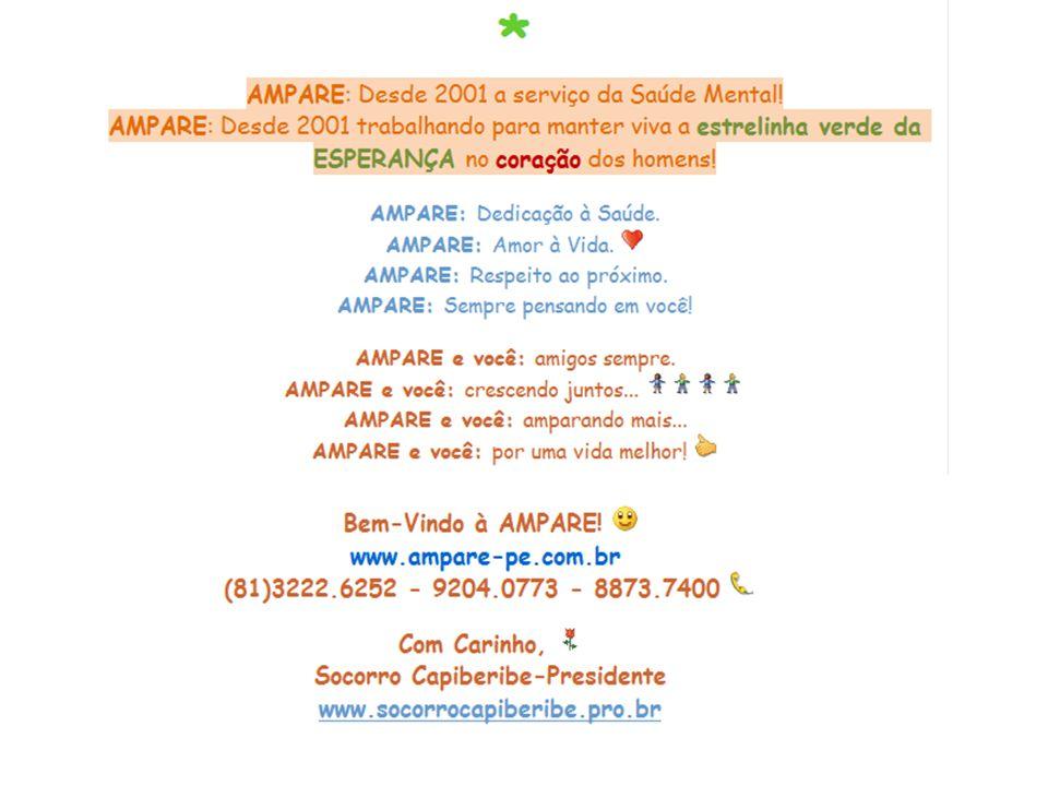 A Associa ç ão dos Amigos dos Pacientes de Pânico em Recife – AMPARE – tem o prazer de convidar V.Sa e fam í lia para a solenidade comemorativa do seu