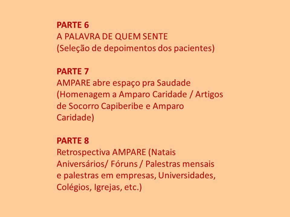 PARTE 4 Artigos selecionados dos Jornais da AMPARE (Wilson Oliveira Jr. / Luiz Schettini / Cristina Jatobá / Benérea Yace Donato / Edgard Pessoa de Me