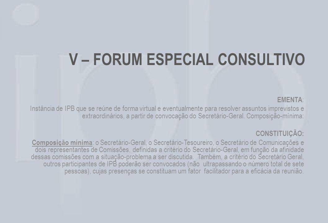 EMENTA : Instância de IPB que se reúne de forma virtual e eventualmente para resolver assuntos imprevistos e extraordinários, a partir de convocação d