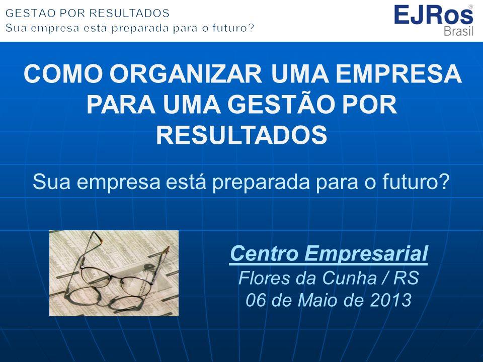 COMO ORGANIZAR UMA EMPRESA PARA UMA GESTÃO POR RESULTADOS Sua empresa está preparada para o futuro.