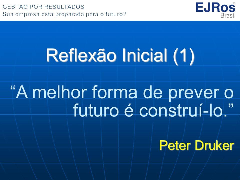 Reflexão Inicial (1) A melhor forma de prever o futuro é construí-lo. Peter Druker