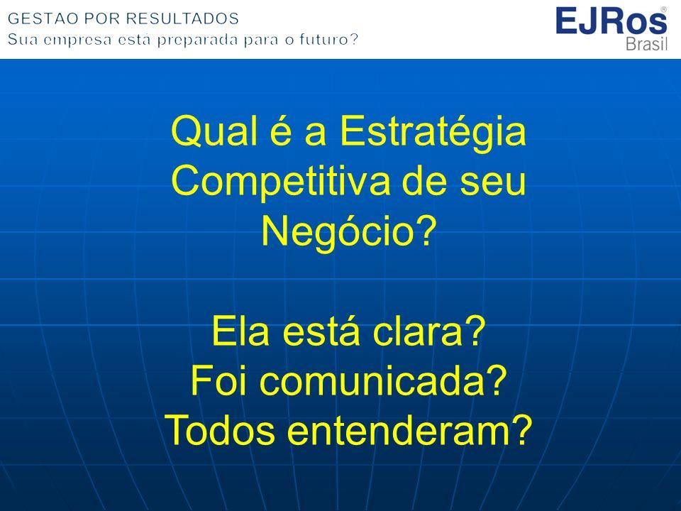 Qual é a Estratégia Competitiva de seu Negócio? Ela está clara? Foi comunicada? Todos entenderam?