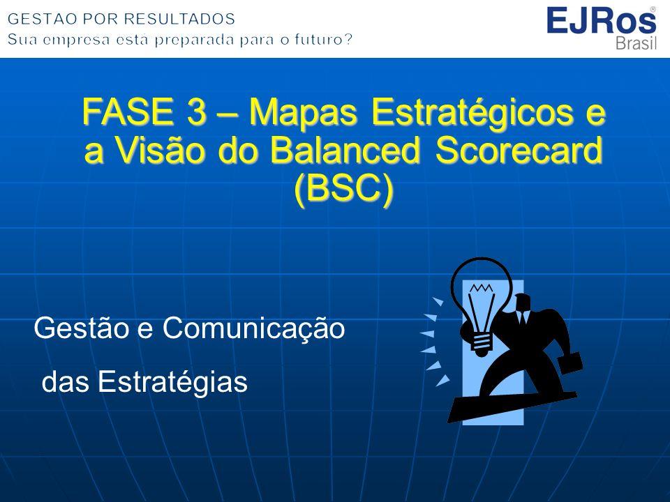 FASE 3 – Mapas Estratégicos e a Visão do Balanced Scorecard (BSC) Gestão e Comunicação das Estratégias