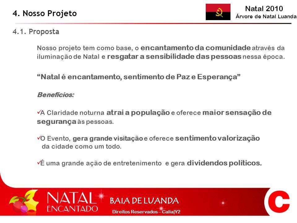 Natal 2010 Árvore de Natal Luanda BAIA DE LUANDA Direitos Reservados – Calia|Y2 Nosso projeto tem como base, o encantamento da comunidade através da i