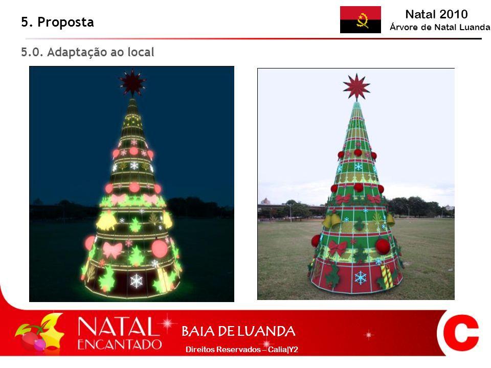 Natal 2010 Árvore de Natal Luanda BAIA DE LUANDA Direitos Reservados – Calia|Y2 5. Proposta 5.0. Adaptação ao local