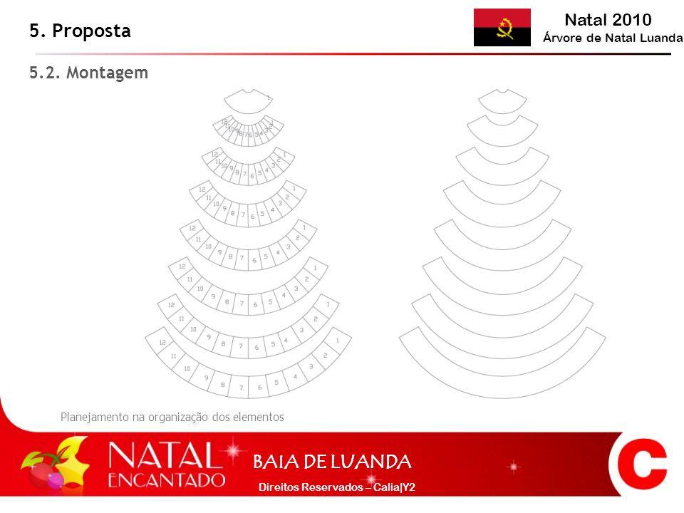 Natal 2010 Árvore de Natal Luanda BAIA DE LUANDA Direitos Reservados – Calia|Y2 5. Proposta 5.2. Montagem Planejamento na organização dos elementos