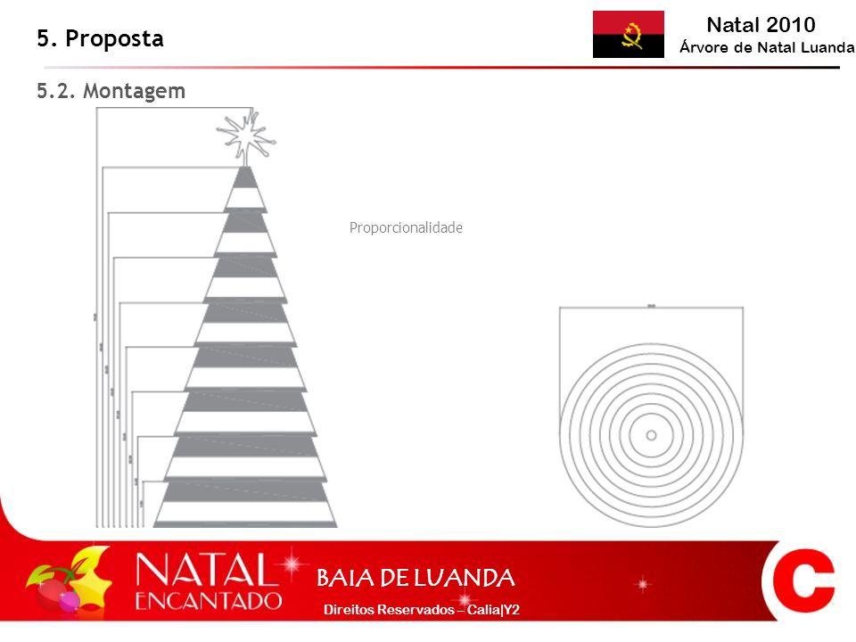 Natal 2010 Árvore de Natal Luanda BAIA DE LUANDA Direitos Reservados – Calia|Y2 5. Proposta 5.2. Montagem Proporcionalidade