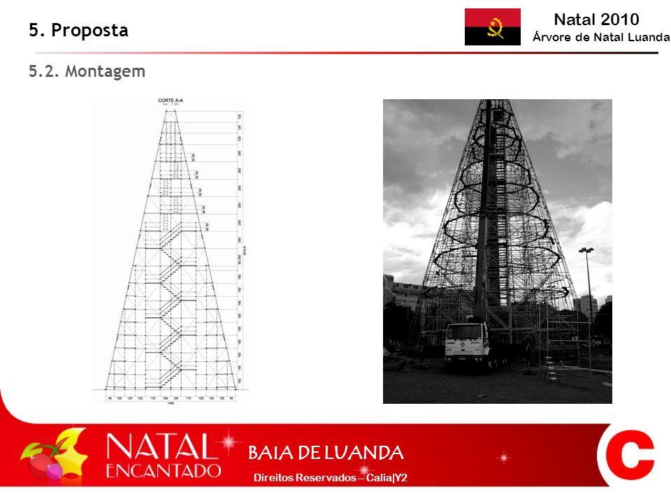Natal 2010 Árvore de Natal Luanda BAIA DE LUANDA Direitos Reservados – Calia|Y2 5. Proposta 5.2. Montagem