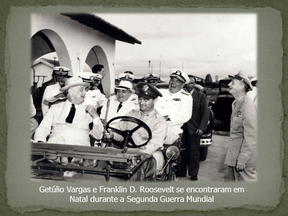 Getúlio Vargas e Franklin D. Roosevelt se encontraram em Natal durante a Segunda Guerra Mundial