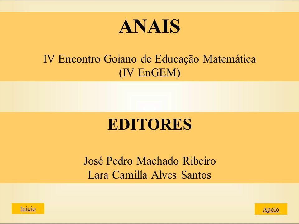 Coordenação Geral: Prof.Dr. Wellington Lima Cedro Coordenação Local do evento: Prof.