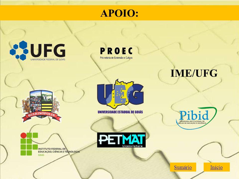 SumárioInício APOIO: IME/UFG