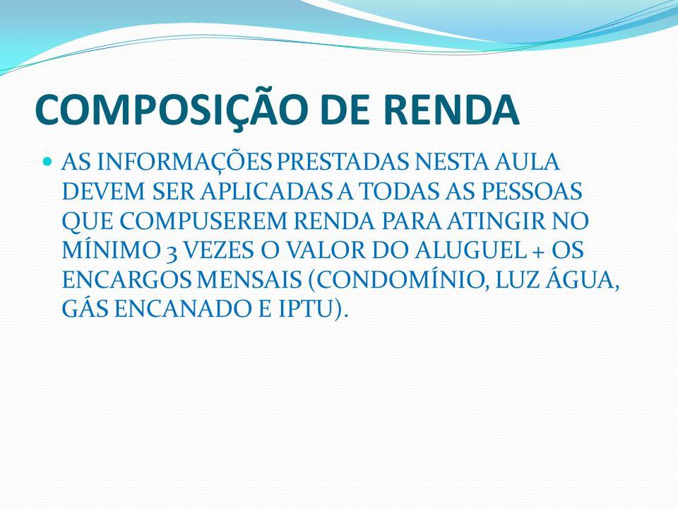 COMPROVANTE DE ENDEREÇO ACEITA-SE CONTAS DE CONSUMO.