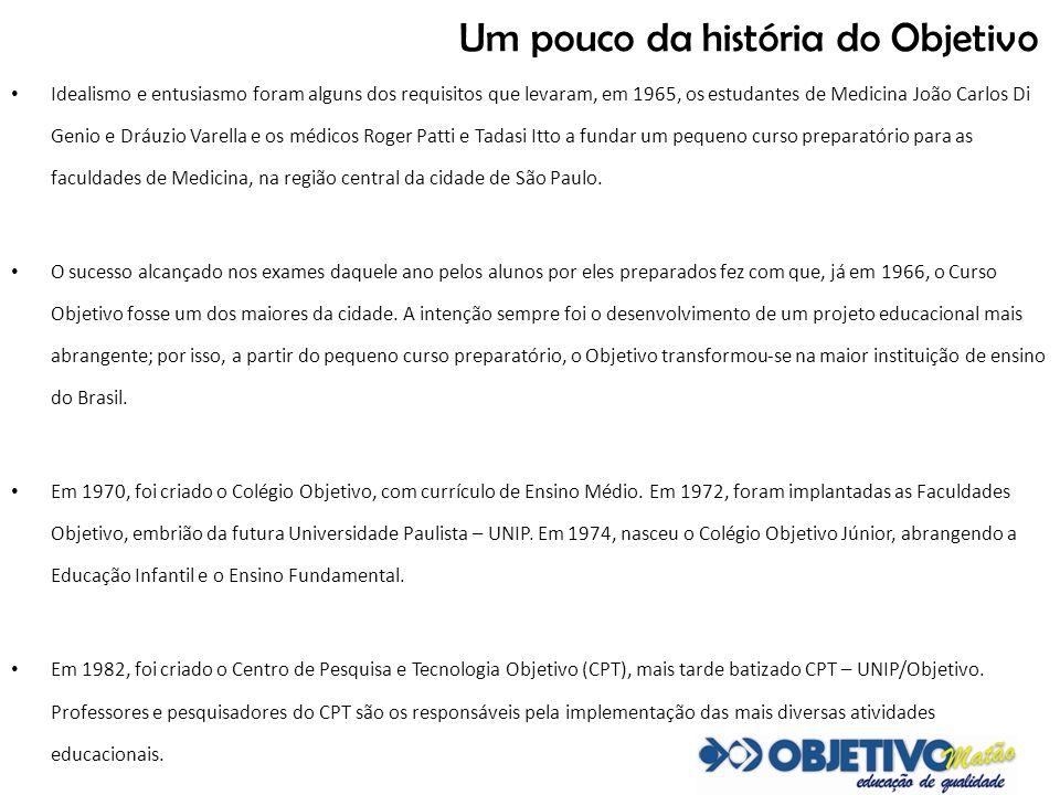 Duas décadas de Objetivo em Matão Família comprometida com a educação se orgulha do pioneirismo Em Matão, o Objetivo foi instalado em fevereiro de 1992 pelo casal Narciso Luiz Gomes e Anna Grimaldi Gomes; portanto, há 20 anos.