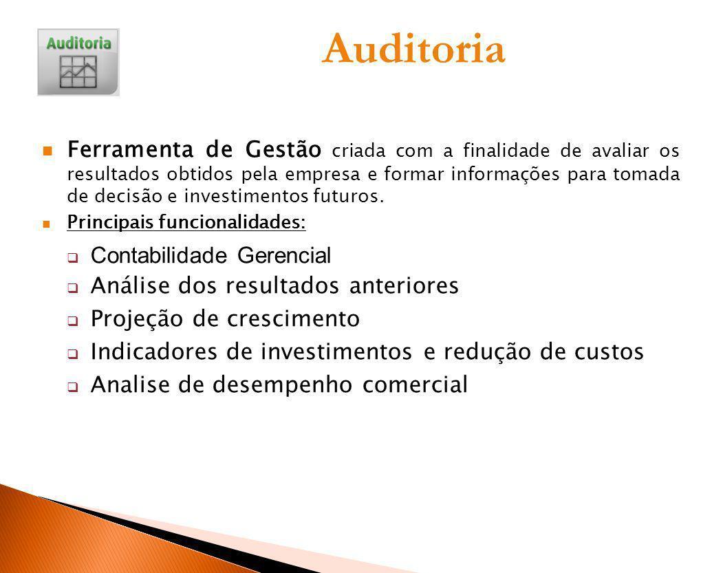 Auditoria Ferramenta de Gestão criada com a finalidade de avaliar os resultados obtidos pela empresa e formar informações para tomada de decisão e inv