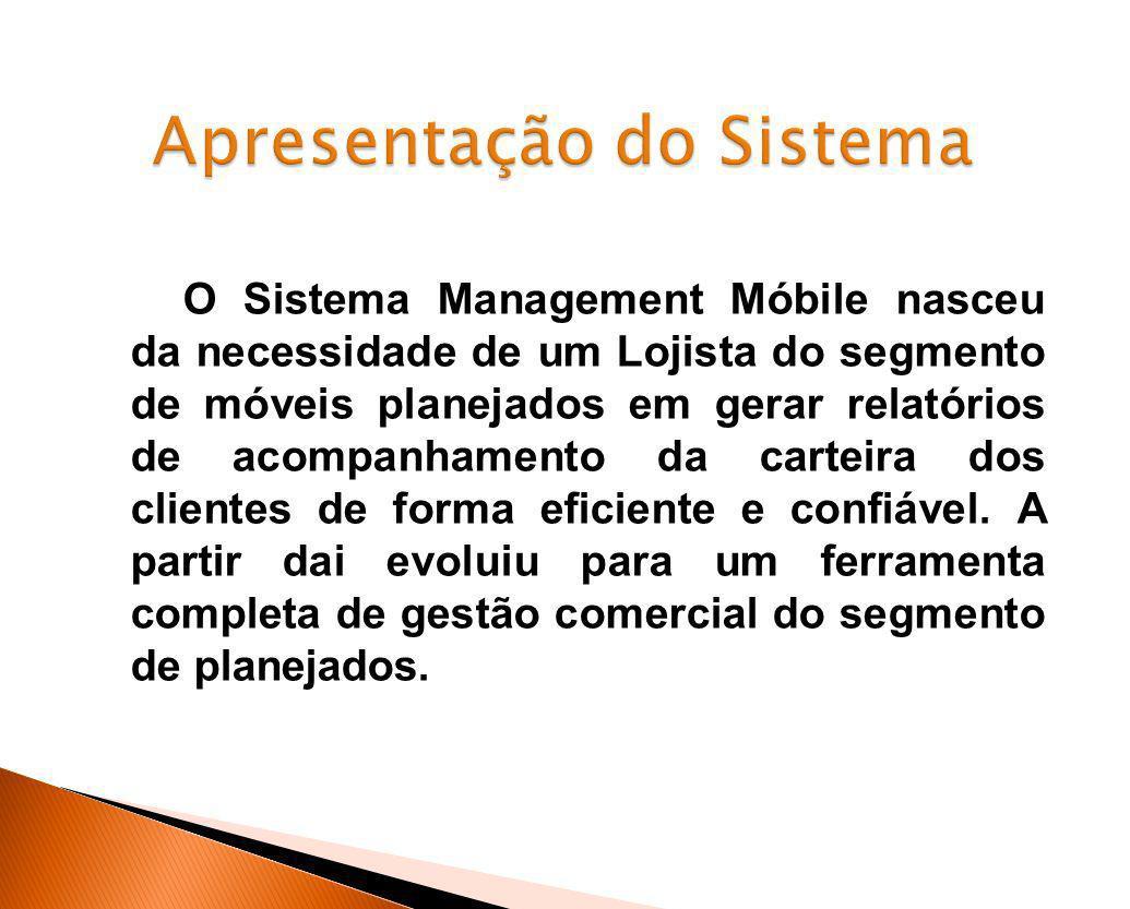 O Sistema Management Móbile nasceu da necessidade de um Lojista do segmento de móveis planejados em gerar relatórios de acompanhamento da carteira dos
