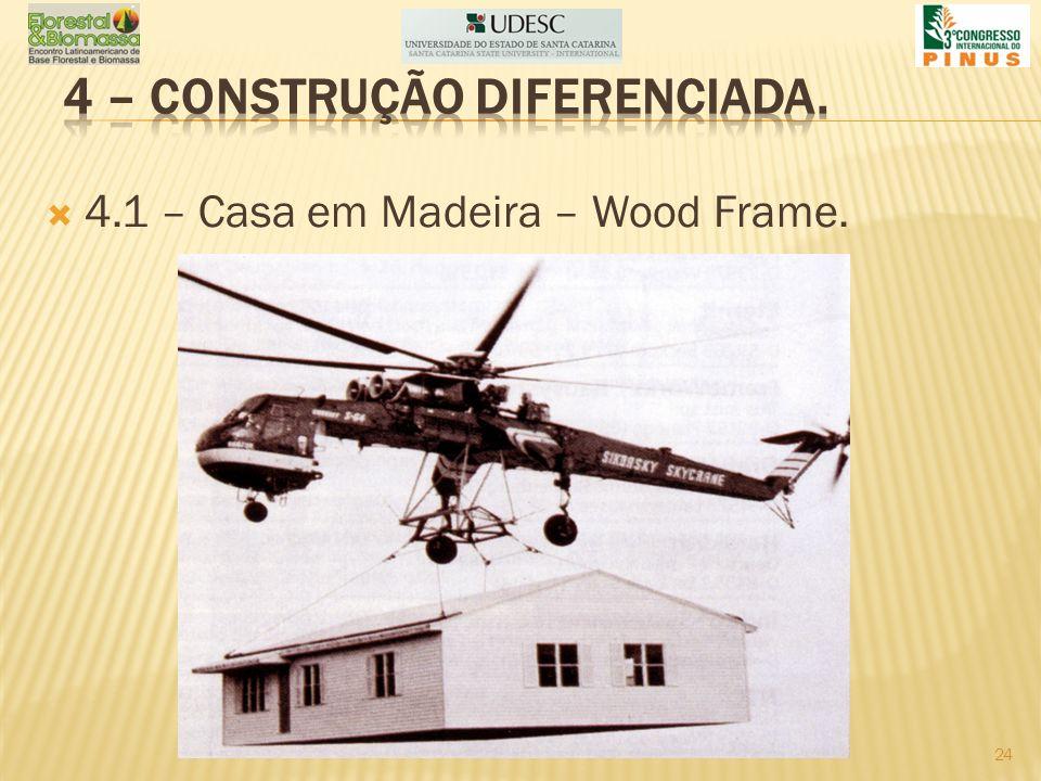 4.1 – Casa em Madeira – Wood Frame. 24
