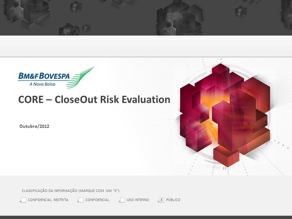 CORE – CloseOut Risk Evaluation Outubro/2012 CLASSIFICAÇÃO DA INFORMAÇÃO (MARQUE COM UM X): CONFIDENCIAL RESTRITACONFIDENCIALUSO INTERNOPÚBLICO X