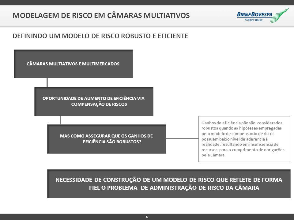 4 MODELAGEM DE RISCO EM CÂMARAS MULTIATIVOS DEFININDO UM MODELO DE RISCO ROBUSTO E EFICIENTE NECESSIDADE DE CONSTRUÇÃO DE UM MODELO DE RISCO QUE REFLE