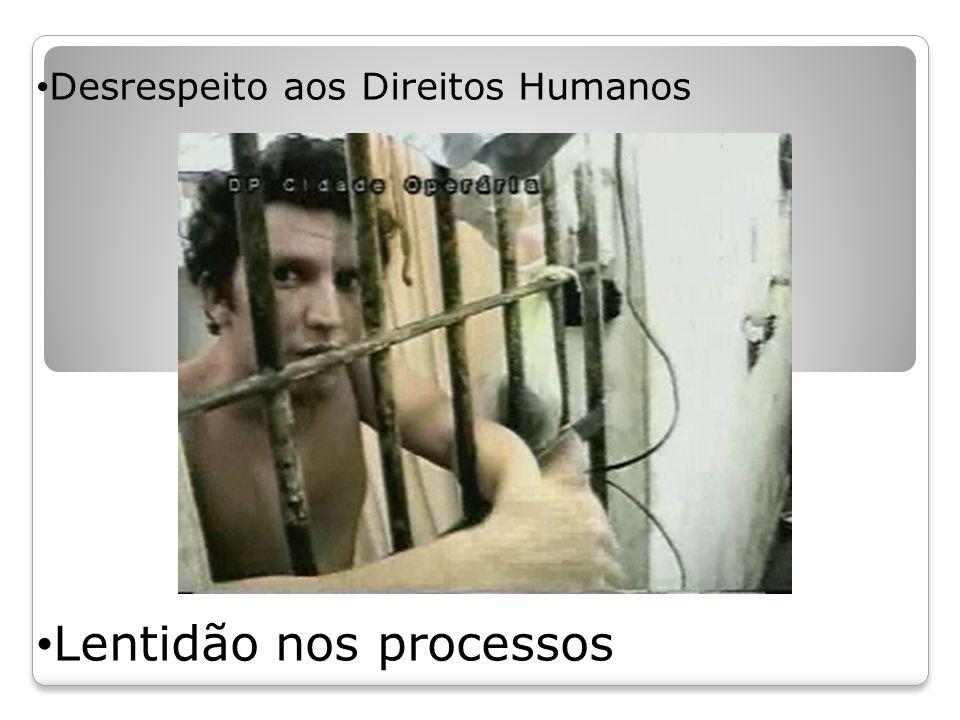 Desrespeito aos Direitos Humanos Lentidão nos processos
