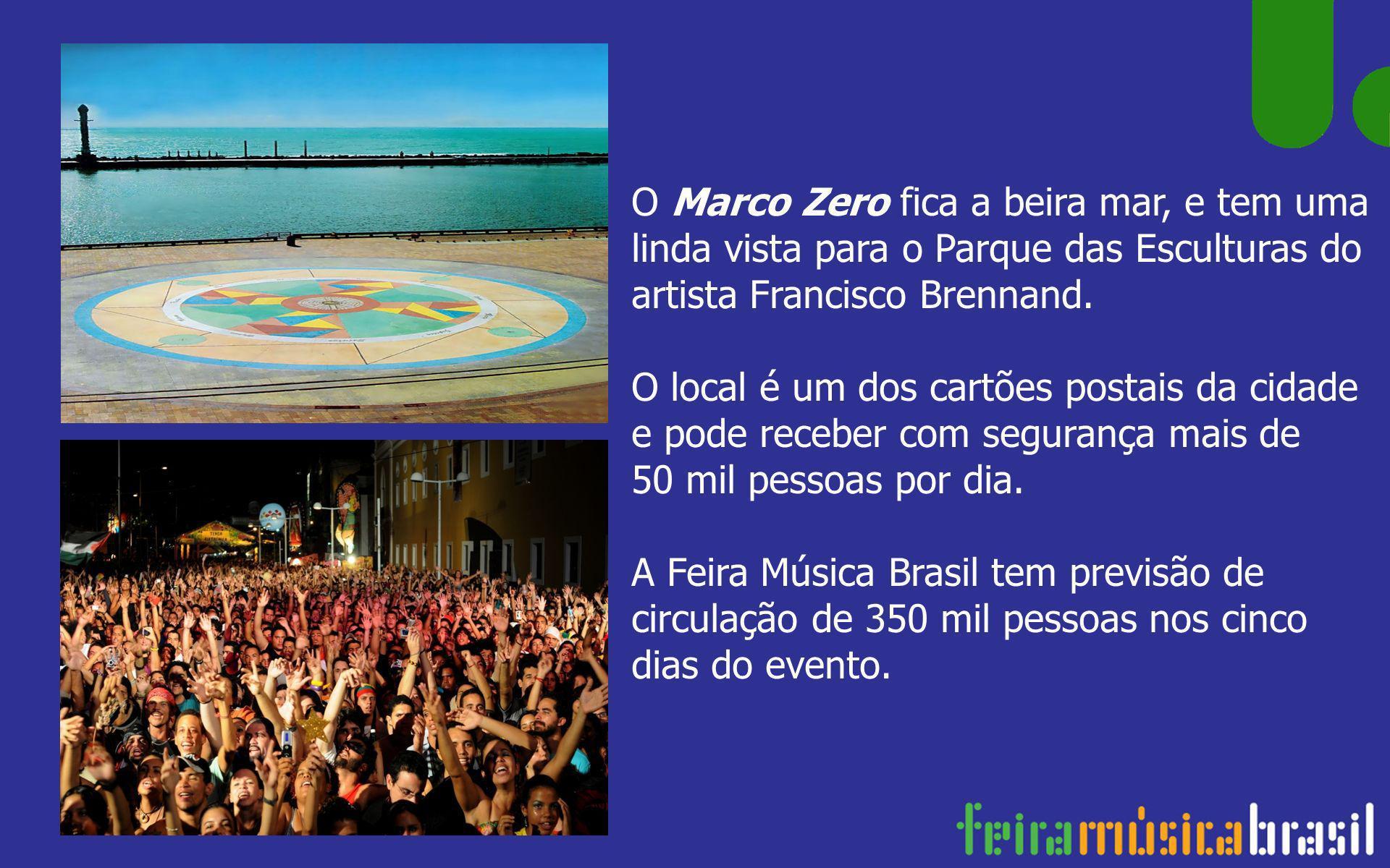 O Marco Zero fica a beira mar, e tem uma linda vista para o Parque das Esculturas do artista Francisco Brennand. O local é um dos cartões postais da c