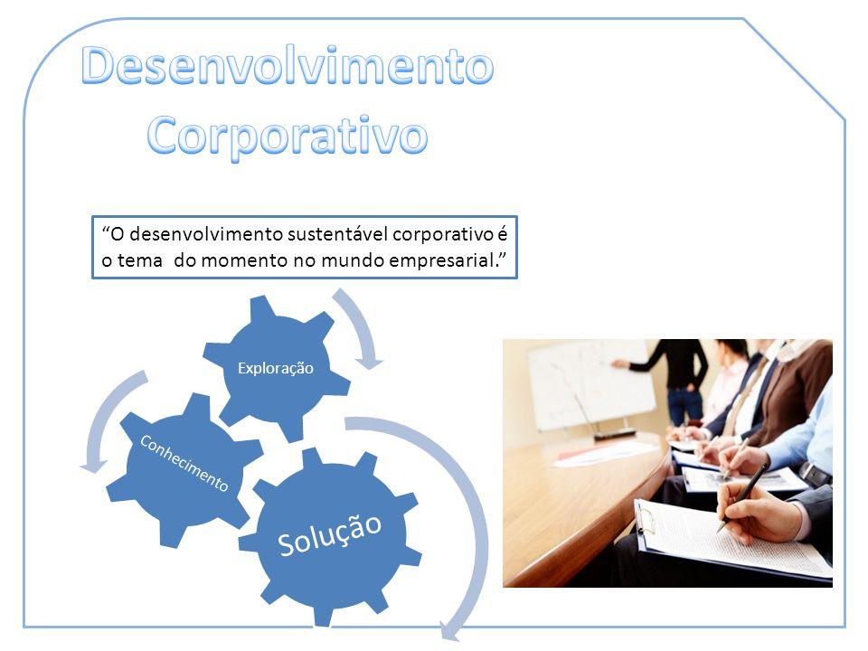 O desenvolvimento sustentável corporativo é o tema do momento no mundo empresarial. Solução Exploração Conhecimento