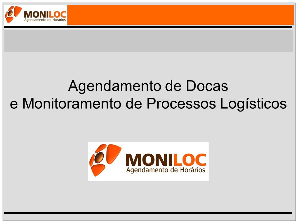 Agendamento de Docas e Monitoramento de Processos Logísticos