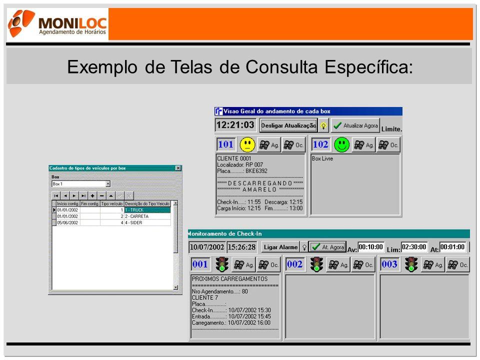 Exemplo de Telas de Consulta Específica: