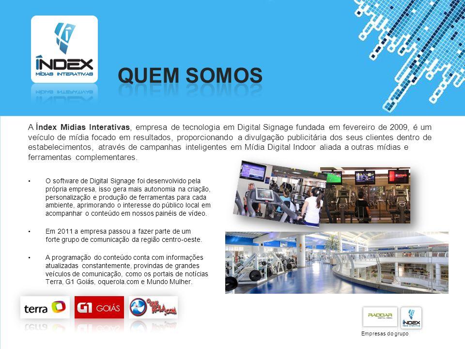 Powerpoint Templates Page 2 A Índex Mídias Interativas, empresa de tecnologia em Digital Signage fundada em fevereiro de 2009, é um veículo de mídia f