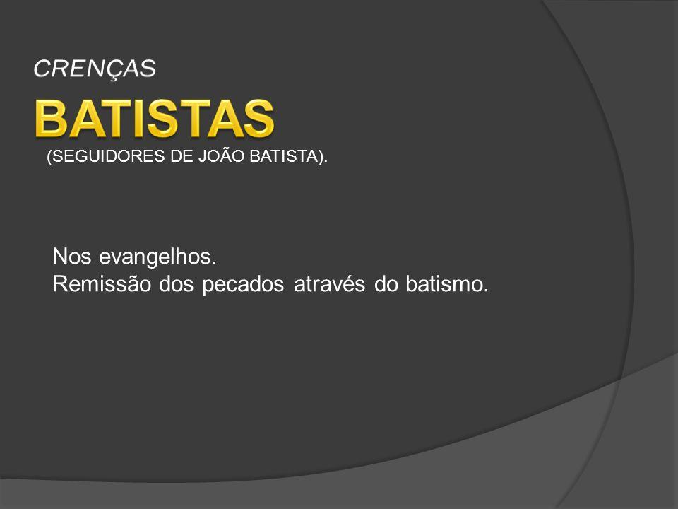 (SEGUIDORES DE JOÃO BATISTA). Nos evangelhos. Remissão dos pecados através do batismo.