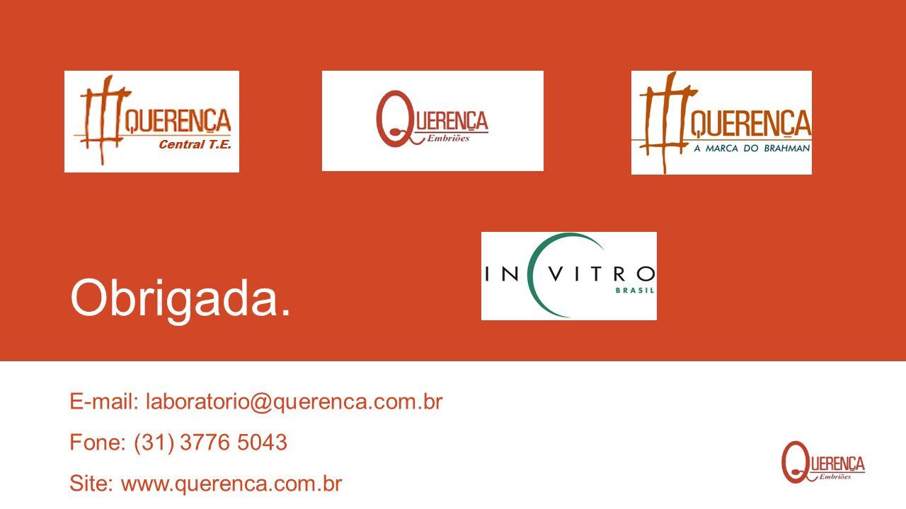 Obrigada. E-mail: laboratorio@querenca.com.br Fone: (31) 3776 5043 Site: www.querenca.com.br