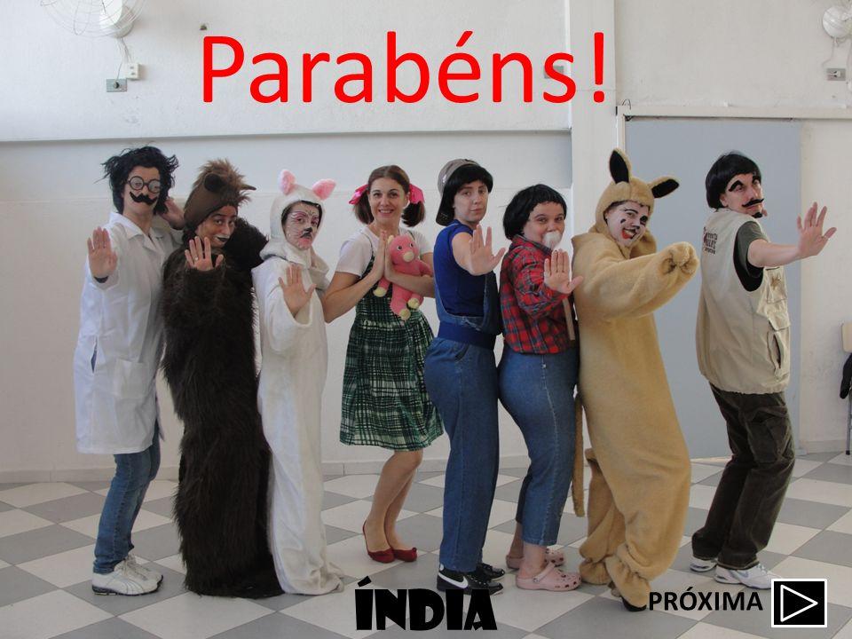 índia Parabéns! PRÓXIMA