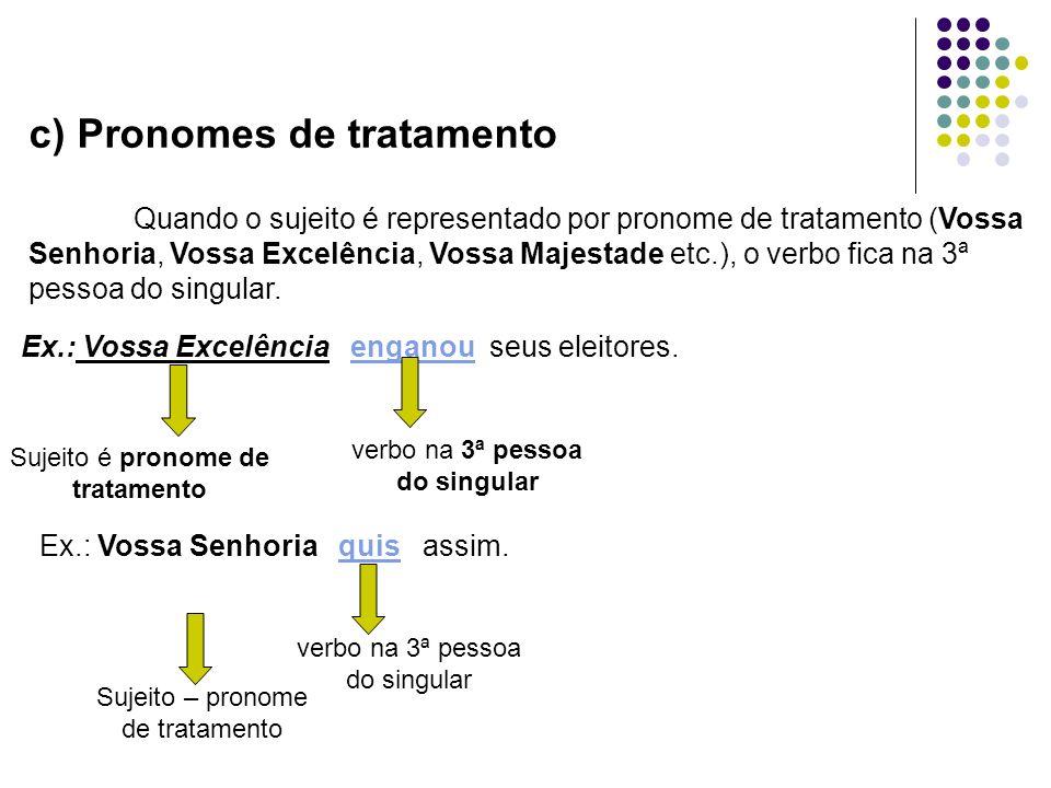 d) Pronomes relativos que e quem Relativo que – o verbo concorda com o antecedente desse pronome.