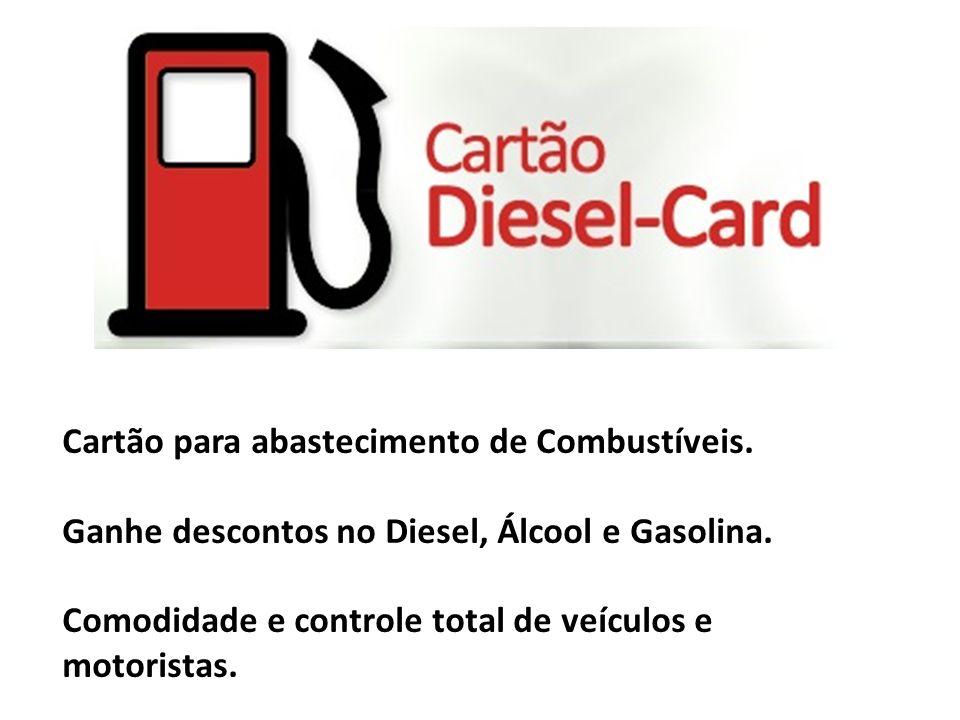 Cartão para abastecimento de Combustíveis. Ganhe descontos no Diesel, Álcool e Gasolina. Comodidade e controle total de veículos e motoristas.