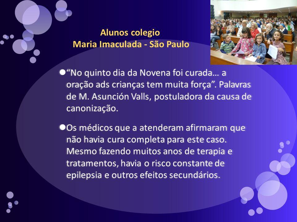 Alunos colegio Maria Imaculada - São Paulo