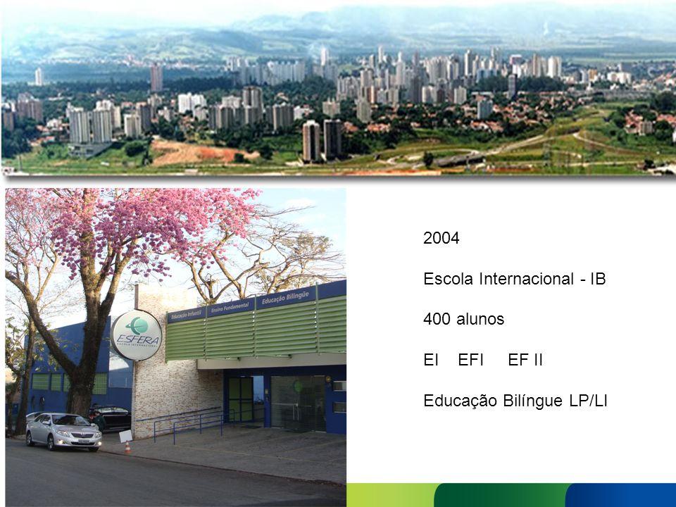 2004 Escola Internacional - IB 400 alunos EI EFI EF II Educação Bilíngue LP/LI