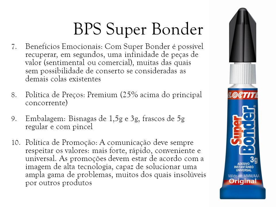 BPS Super Bonder 7. Benefícios Emocionais: Com Super Bonder é possível recuperar, em segundos, uma infinidade de peças de valor (sentimental ou comerc