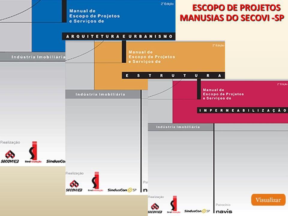 ESCOPO DE PROJETOS MANUSIAS DO SECOVI -SP